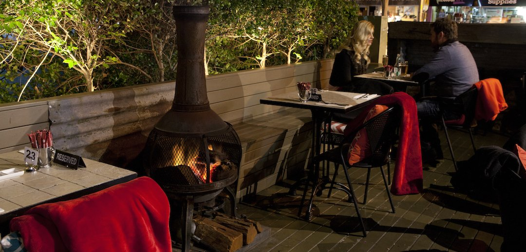Enjoy an intimate dinner beside our outdoor woodfire
