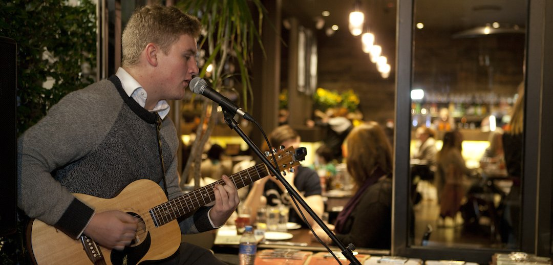 Enjoy live music while you dine at The Bunker